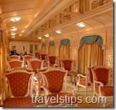 inside the golden chariot train